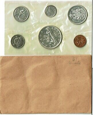 Canada 6-Coin Prooflike Set 1961 Gem Sealed 1.1 Ounces Silver