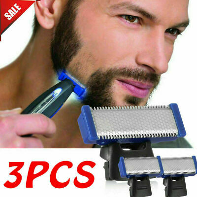 3x Double-Sided Replacement Shaver Blade Head For MicroTouch Solo Electric Razor