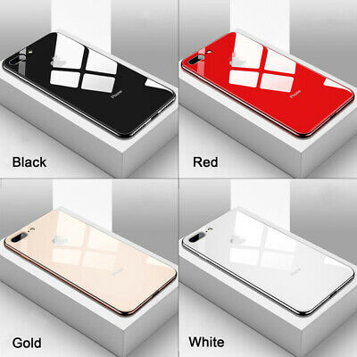 Luxury Phone Case Cover For iPhone XR 8 11 Pro Max Mirror Plating Tempered Glass
