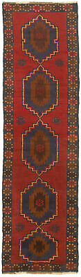 """Hand-knotted Carpet 2'2"""" x 8'1"""" Traditional Vintage Wool Rug"""
