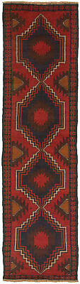 """Hand-knotted Carpet 2'4"""" x 9'5"""" Traditional Vintage Wool Rug"""