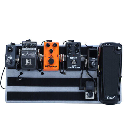 Plastic Guitar Effect Pedal Board Pedalboard With Hide Power Room 2*30*13cm