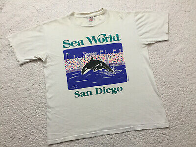 SEA WORLD SAN DIEGO Killer Whales Vintage Free Willy Tee T-Shirt