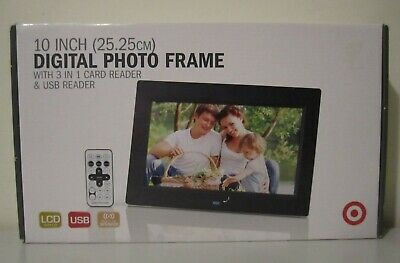 """10"""" Inch Digital Photo Frame with 3in1 & USB Card Reader - Never Used"""