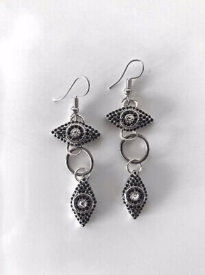 Silver Eye of Horus Eye of Ra Earrings Silver Ear Hook ancient Egyptian