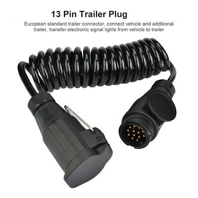 13 Pin Trailer Plug Wiring Spring Cable Adapter for Trailer Caravan Europe Style