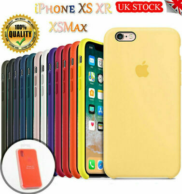 Genuine Official Silicone Case Slim Skin Cover For iPhone XS Max XR 8 7 6s Plus