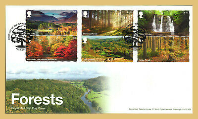 2019 FORESTS STAMP SET FDC FIRST DAY COVER -  Westonbirt Handstamp