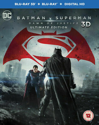Batman V Superman Dawn Of Justice 3D Ultimate Edition 3 Disc Blu Ray New & Seale