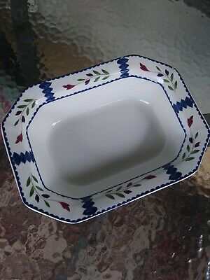 """Lancaster by Adams China 9.75""""  Vegetable Bowl Ironstone Made in England VTG"""
