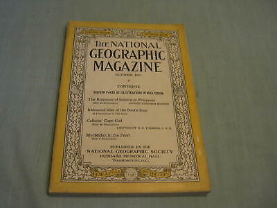 ANTIQUE NATIONAL GEOGRAPHIC October 1925 POLYNESIA Isles of South Seas CAPE COD