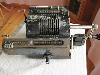 Vintage Brunsviga mechanical calculator. Repair