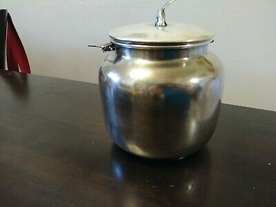 Vtg Silver Plated Engraved Cookie Jar