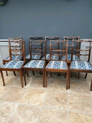 8 antique Hepplewhite style dining / kitchen chairs