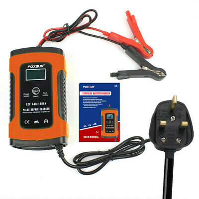 2019 Smart Car Battery Charger 12V Automobile Motorcycle Battery Repair UK Plug