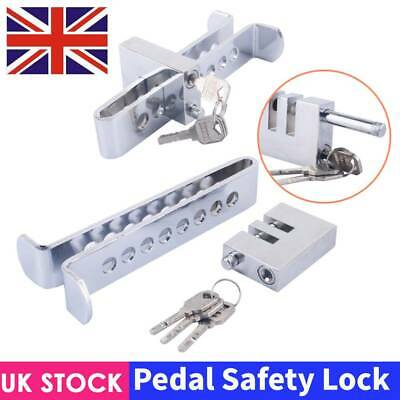 Stainless Steel Anti-Theft Pedal Lock Security Device Clutch Brake Safety Lock