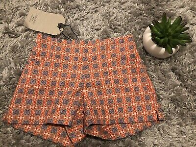Zara Girls Kids Orange Adjustable Spring Shorts Size 3/4 3-4