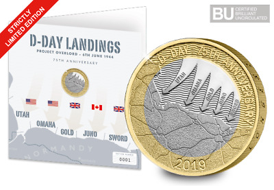 JUST 9,995 available - Limited Edition D-Day £2 Coin on Display Card