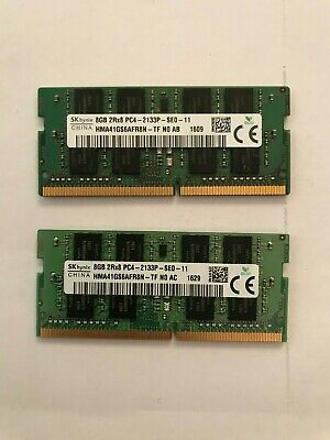 SK hynix 16GB RAMS 2Rx8 PC4 - 2133p - SEO- 11  (8GBx8GB) TWO RAMS 6TH GEN ONWARD