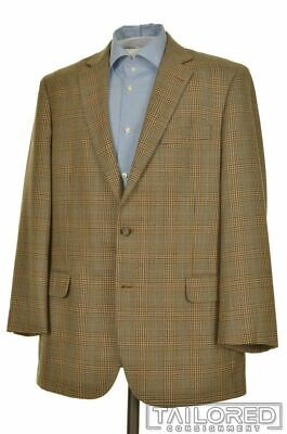 BROOKS BROTHERS Madison Brown Plaid Check Wool Blazer Sport Coat Jacket - 43 R