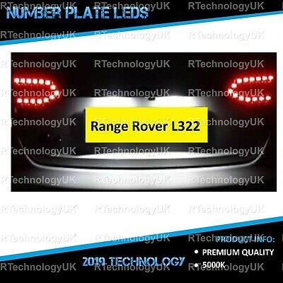PREMIUM Range Rover Vogue L322 White LED Number Plate Light Bulbs XENON Upgrade