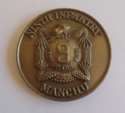 United States Army 9Th Ninth Infantry Manchu Challenge Coin