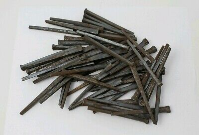 "(60) NOS Antique "" Square "" Cut Nails - 3-1/2"" inch - Unused Lot"