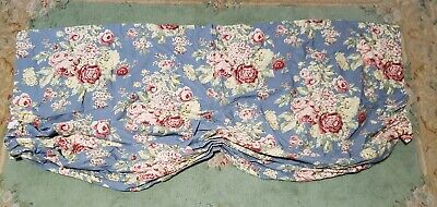 Ralph Lauren Balloon Tie Up Curtain Valance Blue Multicolor Floral Cottage Chic