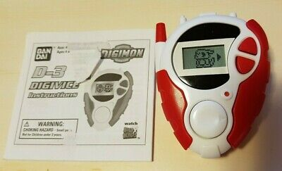 Red 2000 Bandai Digimon D-3 Digivice With Instructions