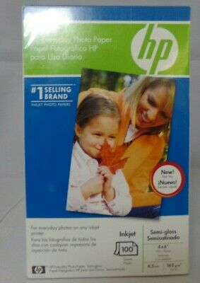 "HP Everyday Photo Paper 100 Sheets 4x6"" InkJet Semi-Gloss 6.5 mil Q5440A"