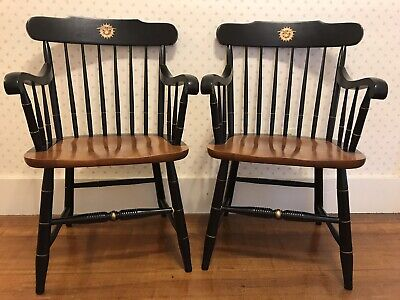 Two (2) Signed L. Hitchcock Chairs