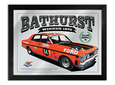 Bathurst Winner Collection Of Any 10 Ford Bar Mirrors A3 Size