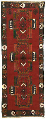 """Hand-knotted Carpet 2'4"""" x 6'4"""" Traditional Vintage Wool Rug"""