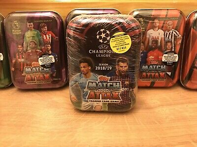 BRAND NEW SEALED Match Attax 18/19 Mini Collectors Tin- UEFA/Premier League