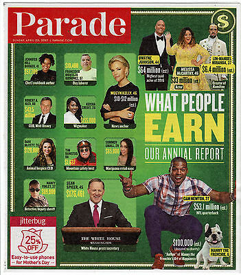 Parade Magazine April 23, 2017 What People Earn Our Annual Report