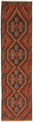 """Hand-knotted Carpet 2'5"""" x 9'5"""" Traditional Vintage Wool Rug"""