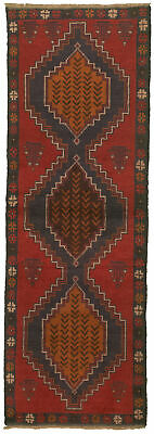 """Hand-knotted Carpet 2'2"""" x 6'8"""" Traditional Vintage Wool Rug"""