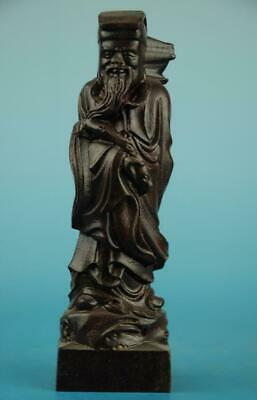 Chinese eaglewood hand-carved One of the eight immortals immortal Statue/r b01