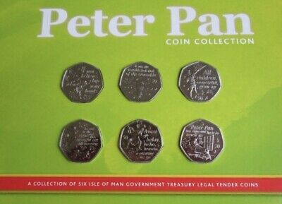 The Official IOM Peter Pan 50p Coin Set Limited Edition Uncirculated