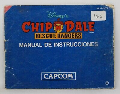 Manual Chip 'N Dale Rescue Rangers - Nintendo Nes - Pal España B And