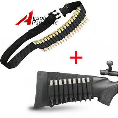 25 Round Rifle Shell Bandolier for 308 cal. 30-30 + 9 Round Ammo Bullet Holder