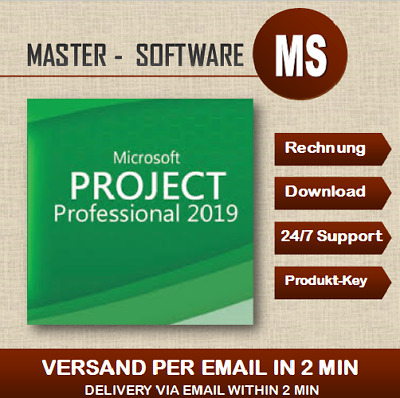 ➞MS Project 2019 Professional ➞Produkt Key per Email ➞ Project 2019 ➞32&64 Bits