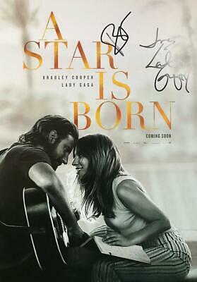 LADY GAGA & BRADLEY COOPER Signed 11x17 Poster (A Star Is Born) Autograph / COA