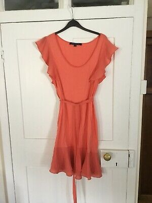 French Connection Summer Dress Size 12 - Apricot fit and flare style - worn once