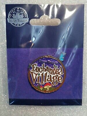 Official Alton Towers Pin Badge - ENCHANTED VILLAGE (2019) - Merlin BRAND NEW
