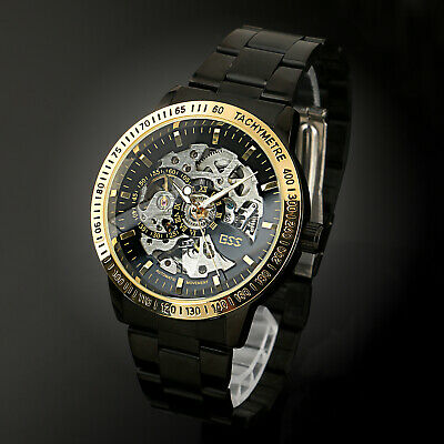 ESS Black Gold Mechanical Watch Men's Automatic Mechanical Stainless Steel Strap