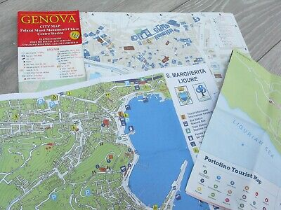 GENOVA City Map +  2 tourist maps