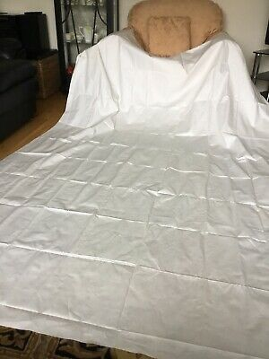 Antique Irish Double Damask Linen Banqueting Tablecloth - Unused