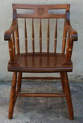Harvard University Law School Nichols & Stone Windsor Solid Wood Captain's Chair