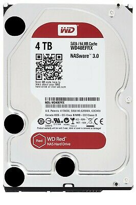 """WD Red 4TB NAS Hard Disk Drive - 5400 RPM SATA 6 Gb/s 64MB Cache 3.5"""" - WD40EFRX"""